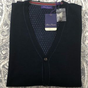 Men's NWT Alan Flusser V-Neck Cardigan Sweater L